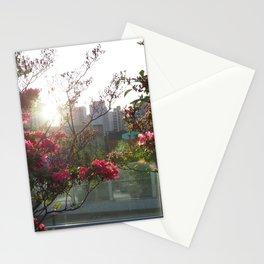 A City Through Petals Stationery Cards