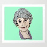 Dorothy Zbornak from The Golden Girls (Green) Art Print