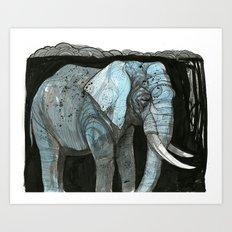 Elephant 2 Art Print