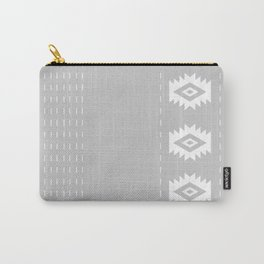 Grey and White Tribal Carry-All Pouch