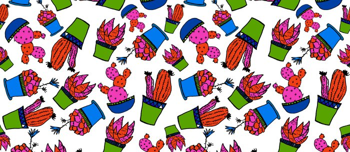 Cacti paradise pattern Coffee Mug