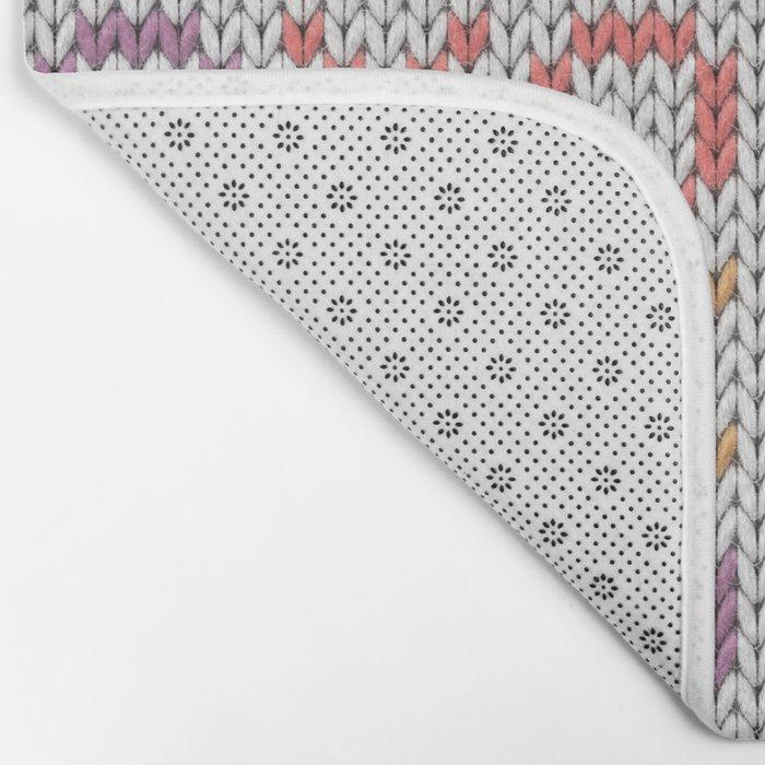 XOXO pattern - light Bath Mat