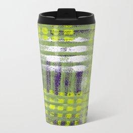 Street Plaid-Lime Travel Mug