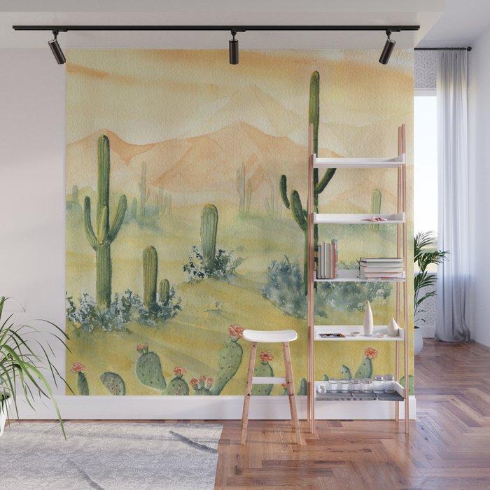 Desert Sunset Landscape Wall Mural