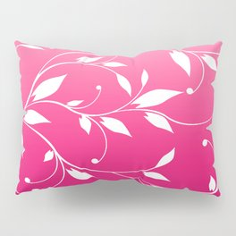 FLOWERY VINES | fuchsia white Pillow Sham