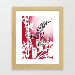 Simply Red Framed Art Print
