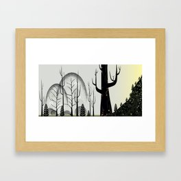 Forest of Dots Framed Art Print