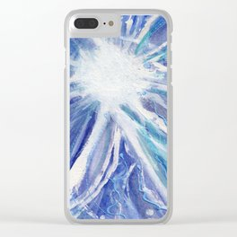 Tribute to Nikola Tesla Clear iPhone Case