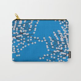Blue cherry blossom Carry-All Pouch