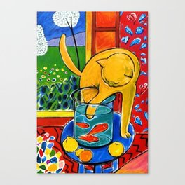 Henri Matisse - Cat With Red Fish still life painting Canvas Print