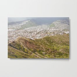 Honolulu View From Diamond Head Metal Print