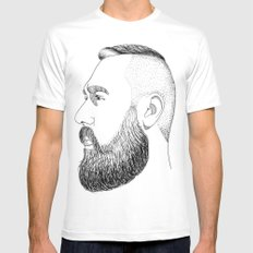 beard gold Mens Fitted Tee MEDIUM White