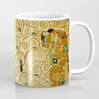 gustav klimt Mugs featuring Gustav Klimt The Tree Of Life  by Art Gallery