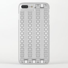 Cool Frosted Steel Grey Quilted Geometric Design Clear iPhone Case