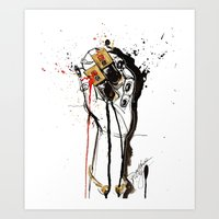 ysl Art Prints featuring YSL by Sasha Spring Illustration