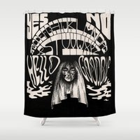 ouija Shower Curtains featuring Ouija by Anke Verret