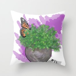 Water Color Butterfly Throw Pillow