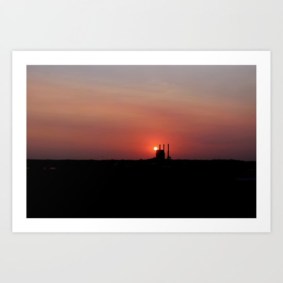 At The End of The Day... Art Print