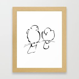 Bird Couple Framed Art Print