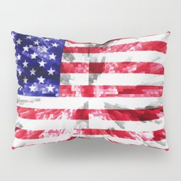 American Flag Extrude Pillow Sham