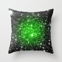 galAxy. Stars Lime Green Throw Pillow