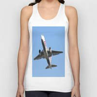 airplanes Tank Tops featuring ABX Air Boeing 767-232(BDSF) Miami Take-off Florida Airplanes  by Yan David