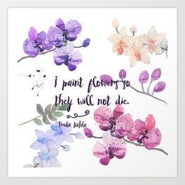 Paint Flowers Art Print