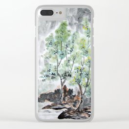 Trees By The River Clear iPhone Case