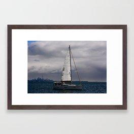 Cloudy Crusin' Framed Art Print