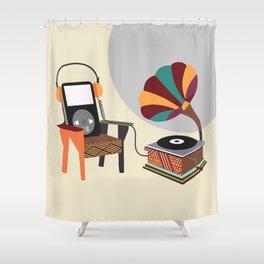 Retro Music Playlist II Shower Curtain