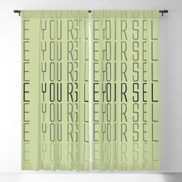 be yourself Blackout Curtain