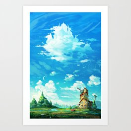 Look! A castle in the sky! Art Print