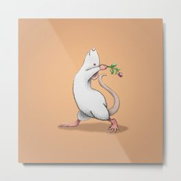 Yoga Rat, Day 6 Metal Print