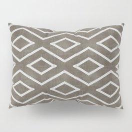 Stitch Diamond Tribal in Khaki Pillow Sham