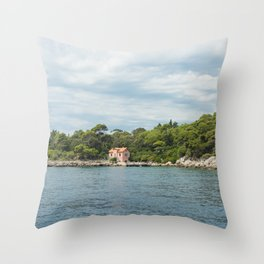 Lokrum Croatia Throw Pillow