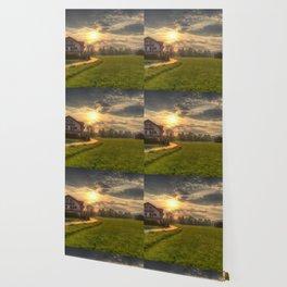 Saint Lorenz Austrian Alps Sunset Wallpaper