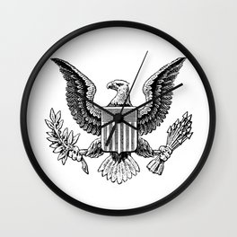 American Eagle Classic style Wall Clock