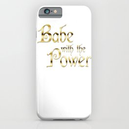 Labyrinth Babe With The Power (white bg) iPhone Case