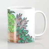 succulents Mugs featuring Succulents by Little Lost Garden