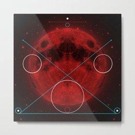 Red Moon Graphish. Metal Print