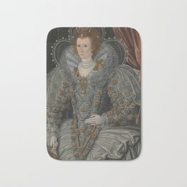 Portrait of A British Woman Bath Mat