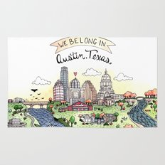 We Belong in Austin Rug