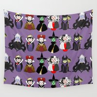 evil Wall Tapestries featuring Evil kokeshis by Pendientera