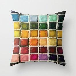 Artist Crack Throw Pillow
