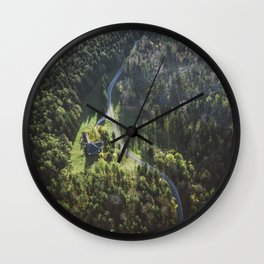 loney House in the Forest Wall Clock