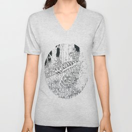 Caged Unisex V-Neck