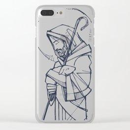 Jesus Christ Good Shepherd Clear iPhone Case
