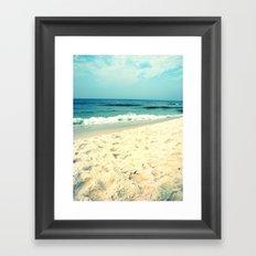 Gentle Surf Framed Art Print