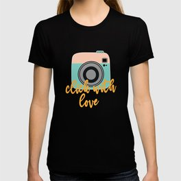 Click With Love Kamermann Camerawoman Gift T-shirt