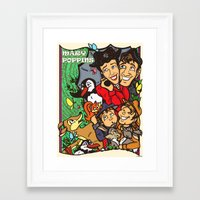 mary poppins Framed Art Prints featuring Mary Poppins by Carol Wellart